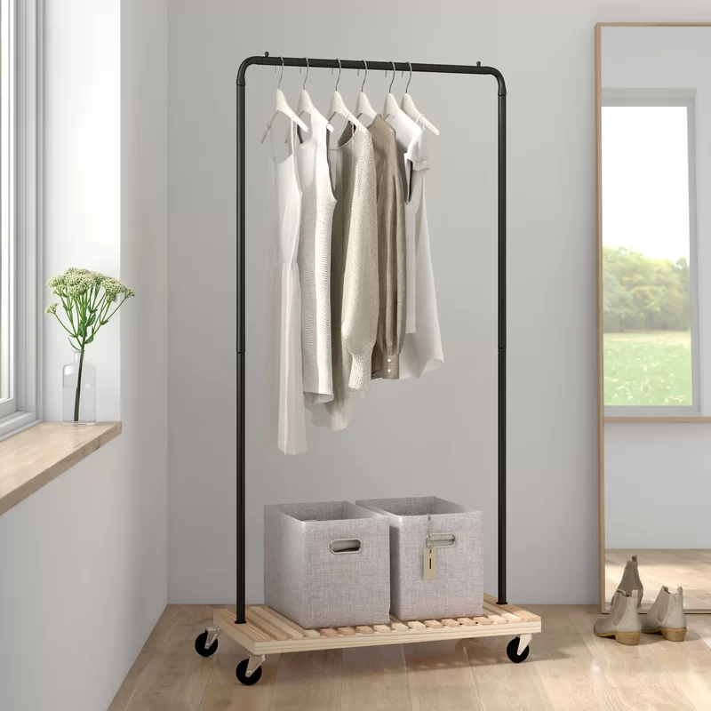 "<h3><a href=""https://www.wayfair.com/storage-organization/pdp/dotted-line-bruno-3625-w-garment-rack-w001991154.html"" rel=""nofollow noopener"" target=""_blank"" data-ylk=""slk:Dotted Line Bruno Garment Rack"" class=""link rapid-noclick-resp"">Dotted Line Bruno Garment Rack</a></h3><br><strong>When you consider closets to be a thing of myths</strong>: The closet-less small-space plague need no longer trouble you — instead, try out a streamlined, free-standing rack for clothing and shoe storage.<br><br><strong>Dotted Line</strong> Bruno Garment Rack, $, available at <a href=""https://go.skimresources.com/?id=30283X879131&url=https%3A%2F%2Fwww.wayfair.com%2Fstorage-organization%2Fpdp%2Fdotted-line-bruno-3625-w-garment-rack-w001991154.html"" rel=""nofollow noopener"" target=""_blank"" data-ylk=""slk:Wayfair"" class=""link rapid-noclick-resp"">Wayfair</a>"