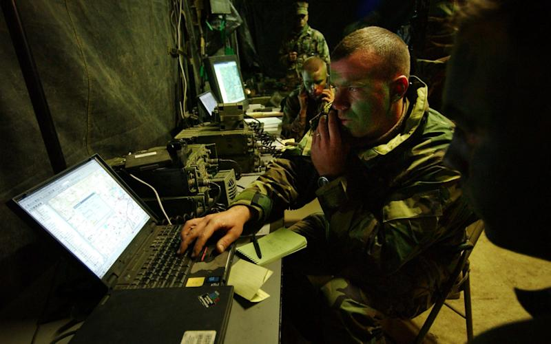 US marines exploit digital technology during training in North Carolina, 2001 - Getty Images