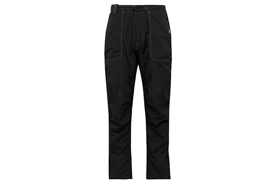 "$305, Mr Porter. <a href=""https://www.mrporter.com/en-us/mens/product/and-wander/sport/outdoor-trousers/shell-climbing-trousers/14097096496039001"" rel=""nofollow noopener"" target=""_blank"" data-ylk=""slk:Get it now!"" class=""link rapid-noclick-resp"">Get it now!</a>"