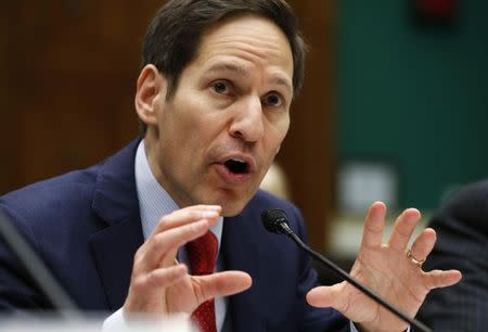 CDC Director Frieden testifies before a hearing on Capitol Hill in Washington