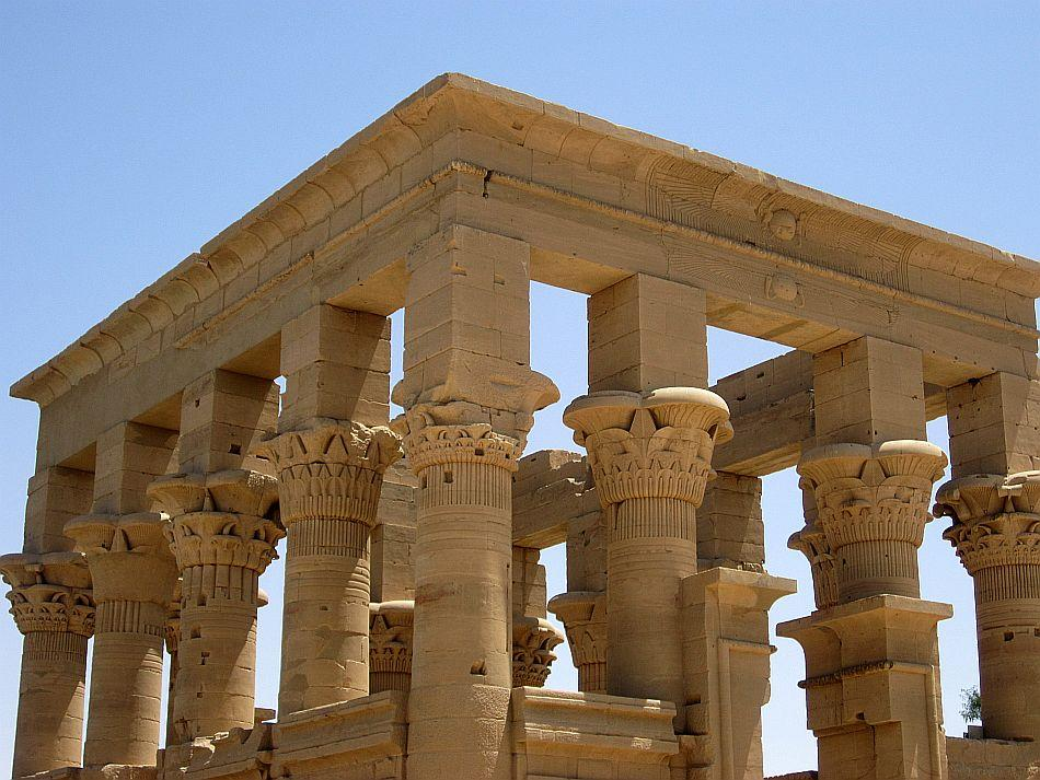 The Phillae temple smiles at the sun