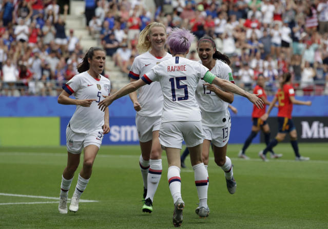 United States is set to take on the host nation of France on Friday in the quarterfinals of the FIFA Women's World Cup. (AP Photo/Alessandra Tarantino)