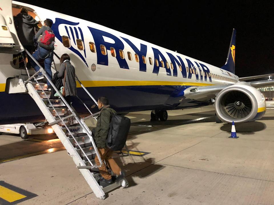 Back on board? Ryanair Boeing 737 at Stansted airport (Simon Calder)