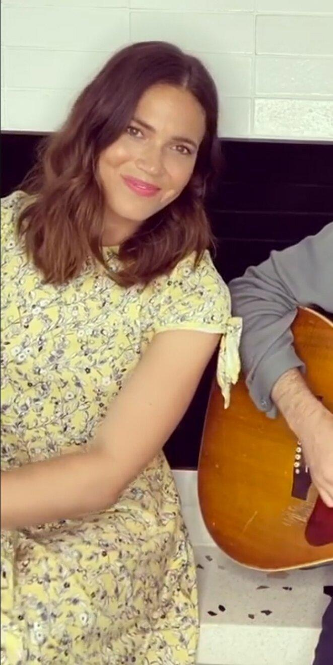 """<p>Mandy Moore's '90s yellow floral dress (<strong>Shop similar: </strong>$38; <a href=""""https://click.linksynergy.com/deeplink?id=93xLBvPhAeE&mid=1237&murl=https%3A%2F%2Fshop.nordstrom.com%2Fs%2Ftopshop-daisy-frandad-shirtdress-regular-petite%2F5597898&u1=IS%2CMandyMoore%2Canesta%2C%2CIMA%2C3545184%2C202005%2CI"""" rel=""""nofollow noopener"""" target=""""_blank"""" data-ylk=""""slk:nordstrom.com"""" class=""""link rapid-noclick-resp"""">nordstrom.com</a>) is the latest in a string of spring dresses with the print worn by celebs like <a href=""""https://www.instyle.com/look-of-the-day/2020-03-30"""" rel=""""nofollow noopener"""" target=""""_blank"""" data-ylk=""""slk:Julia Roberts"""" class=""""link rapid-noclick-resp"""">Julia Roberts</a> and <a href=""""https://www.instyle.com/look-of-the-day/2020-04-29"""" rel=""""nofollow noopener"""" target=""""_blank"""" data-ylk=""""slk:Lily Reinhart"""" class=""""link rapid-noclick-resp"""">Lily Reinhart</a>. </p>"""
