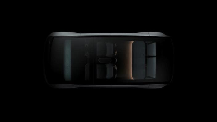 """View shows an early undated concept design for the """"Arrival Car\"""