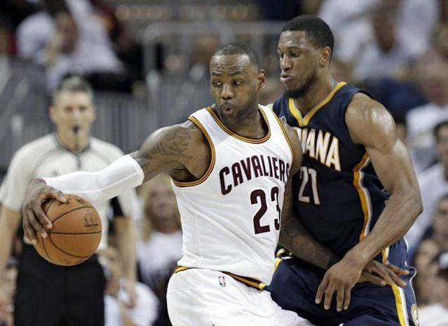 LeBron James starred for the Cavs in a narrow Game 1 win. (AP)
