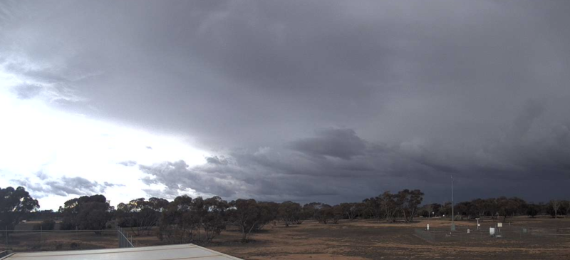 Rain clouds form in Mildura, Victoria.