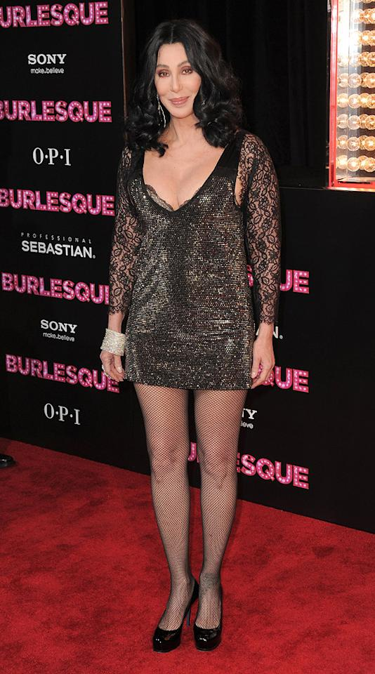 """<a href=""""http://movies.yahoo.com/movie/1810125282/info"""">Burlesque</a> Los Angeles premiere (2010)    Fun fact: The film's soundtrack features two songs sung by Cher (""""You Haven't Seen the Last of Me,"""" """"Welcome to Burlesque""""), which are her first original recordings in over 7 years."""