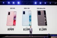 David S. Park of Samsung Electronics speaks on stage during Samsung Galaxy Unpacked 2020 in San Francisco