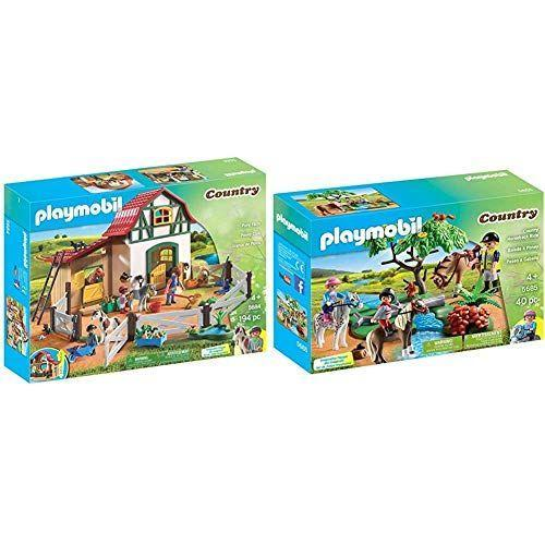 """<p><strong>Playmobil</strong></p><p>amazon.com</p><p><strong>$66.98</strong></p><p><a href=""""https://www.amazon.com/dp/B08PDL457L?tag=syn-yahoo-20&ascsubtag=%5Bartid%7C2089.g.37696840%5Bsrc%7Cyahoo-us"""" rel=""""nofollow noopener"""" target=""""_blank"""" data-ylk=""""slk:Shop Now"""" class=""""link rapid-noclick-resp"""">Shop Now</a></p><p>Whether he wants to be a cowboy or a master equestrian, your little boy can daydream and have lots of make-believe adventures with this adorable pony farm. Set includes a two-story stable, three humans, three horses, and everything he'll need for hours of fun at the farm!</p>"""