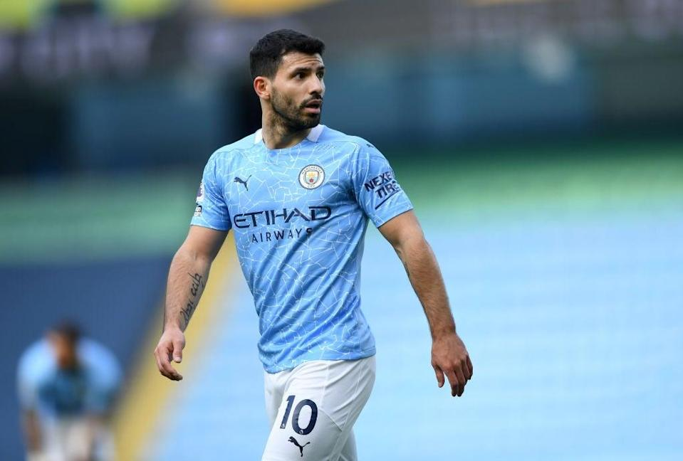 <p>Aguero will be looking for a new club next season</p> (Getty Images)