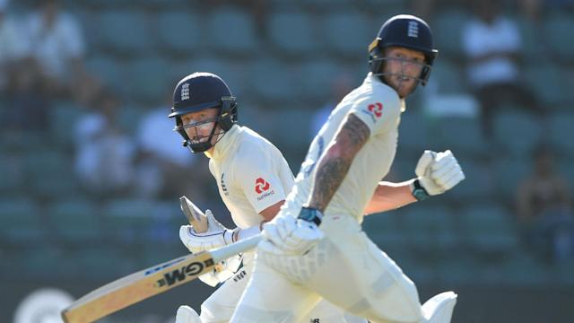 Ben Stokes and Ollie Pope finished the third session with an unbeaten 76-run stand as England dug in against South Africa.