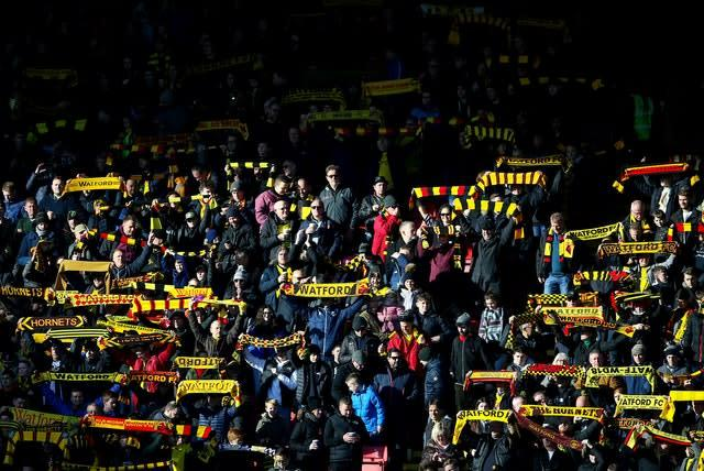 Watford sit 17th in the Premier League (Nigel French/PA)