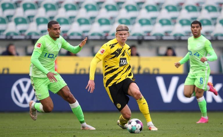 Wolfsburg could not stop Erling Braut Haaland, whose goals revived Borussia Dortmund's prospects of Champions League qualification