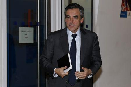 Francois Fillon, member of Les Republicains political party and 2017 presidential candidate of the French centre-right, arrives to attend the political council of Les Republicains political party at their headquarters in Paris