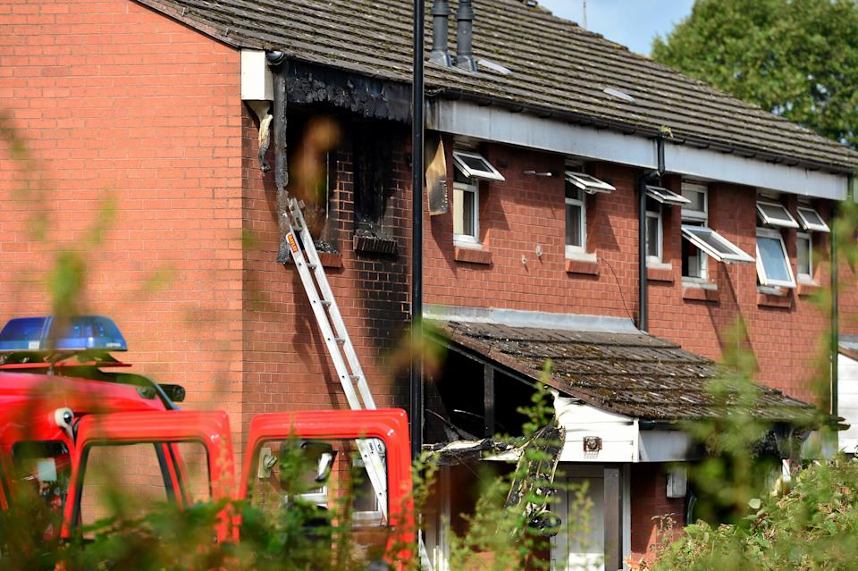 The scene on Jenner Street in Coventry after the blaze. (swns)