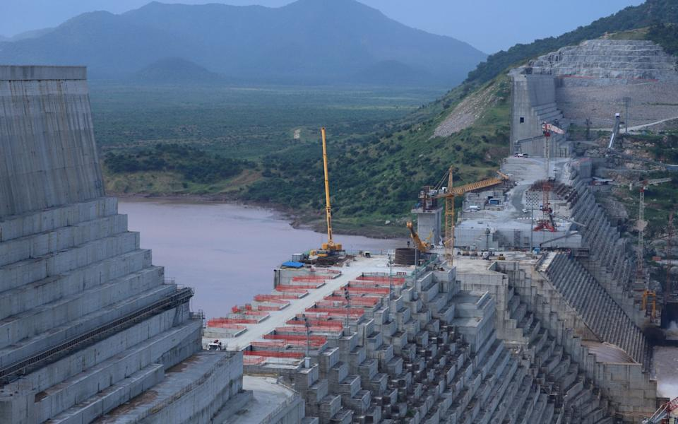 Ethiopia's Grand Renaissance Dam is seen as it undergoes construction work on the river Nile - REUTERS