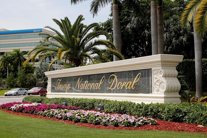 The Trump National Doral golf resort is shown in Doral