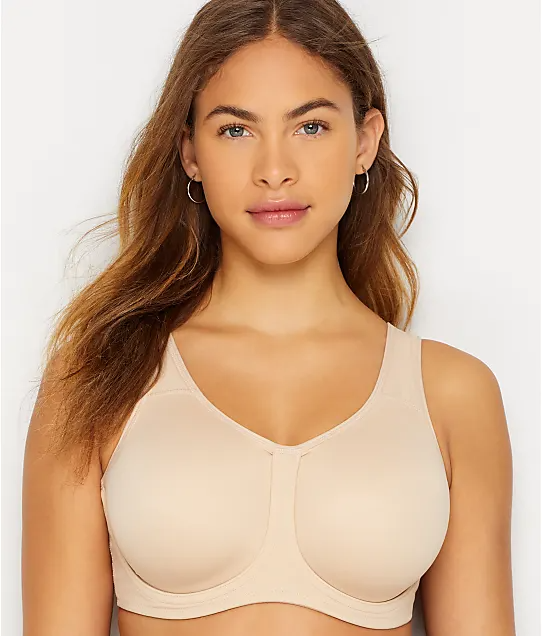 """<h3>Wacoal Sport</h3><br>This one's a great choice for well-endowed people who want to really secure things in place during sweat sessions. Thanks to its """"two-ply"""" cups and floating underwire, it will keep your breasts in check during intense activities.<br><br><strong>Wacoal</strong> High Impact Sports Bra, $, available at <a href=""""https://go.skimresources.com/?id=30283X879131&url=https%3A%2F%2Fwww.barenecessities.com%2Fproduct.aspx%3Fpfid%3DWacoal855170"""" rel=""""nofollow noopener"""" target=""""_blank"""" data-ylk=""""slk:Bare Necessities"""" class=""""link rapid-noclick-resp"""">Bare Necessities</a>"""