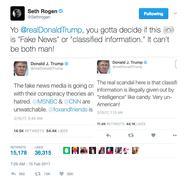 Seth Rogen Wants President Trump Out of Office So Badly ...