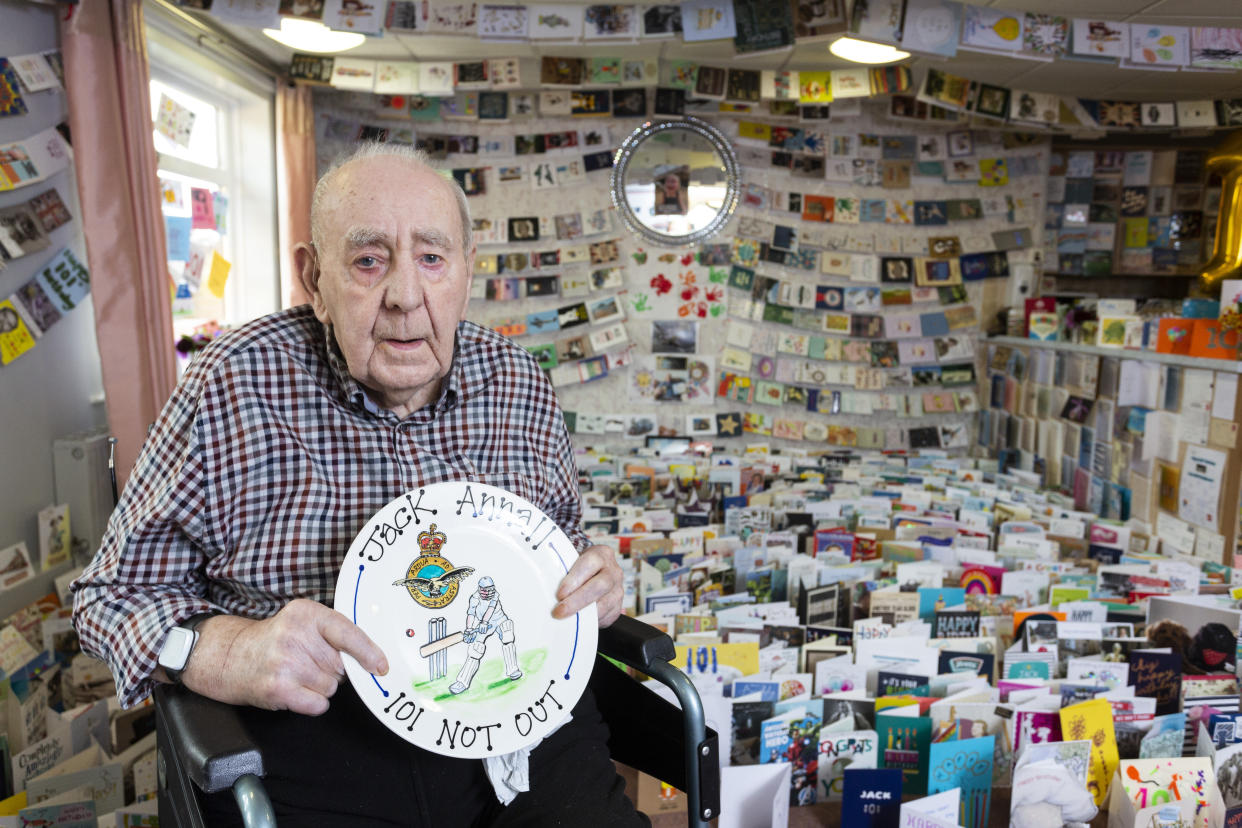 Jack Annall received more than 5,000 cards. (SWNS)