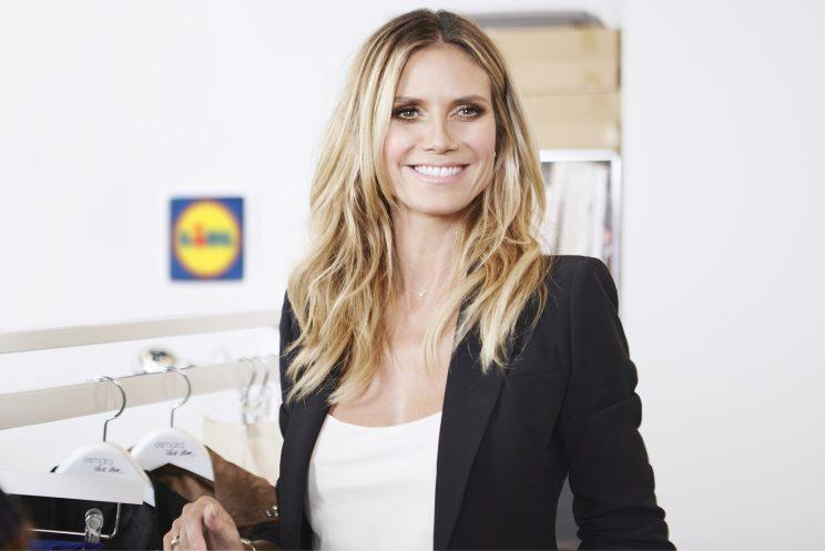 <i>Heidi Klum is creating a low-priced fashion line for Lidl [Photo: Lidl]</i>