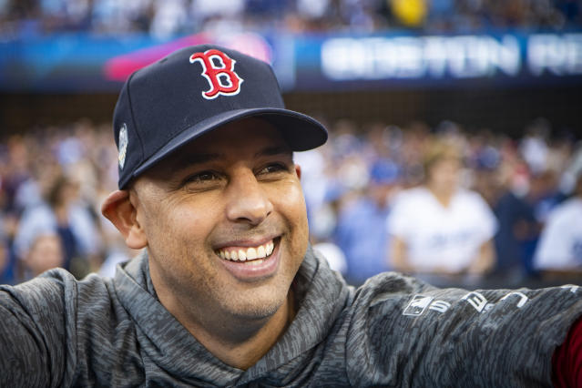 Alex Cora led the Boston Red Sox to 108 wins and a World Series in his first season as manager. (Getty Images)