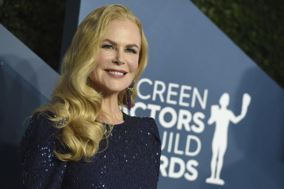 Nicole Kidman arrives at the 26th annual Screen Actors Guild Awards at the Shrine Auditorium & Expo Hall on Sunday, Jan. 19, 2020, in Los Angeles. (Photo by Jordan Strauss/Invision/AP)