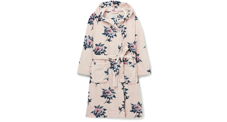 Joules Womens Fluffy Dressing Gown