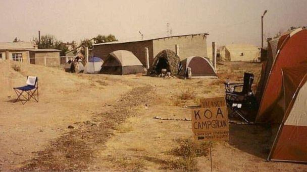 PHOTO: A photo shows the living quarters at Karshi-Khanabad base in Uzbekistan in October 2001. (Courtesy Kelly Earehart)