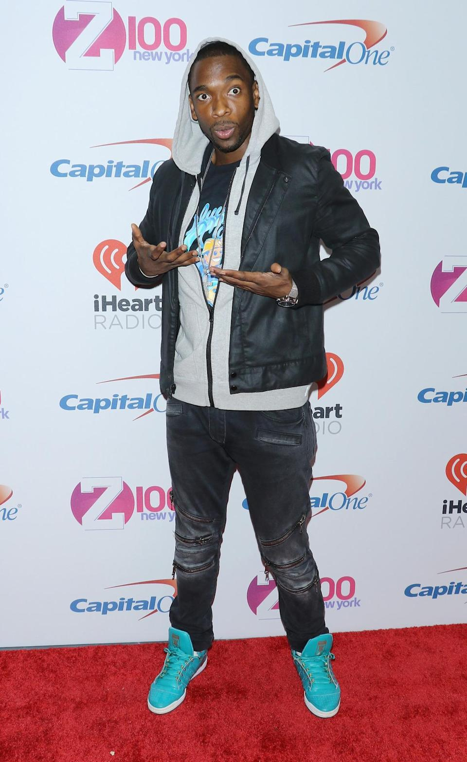 <p>Jay Pharoah was clearly in a silly mood last night.</p>