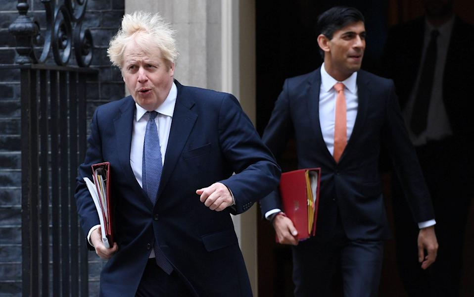 A meeting on Tuesday night between Boris Johnson and Rishi Sunak agreed that the spending review would be pared down to just 12 months - Andy Rain/Shutterstock