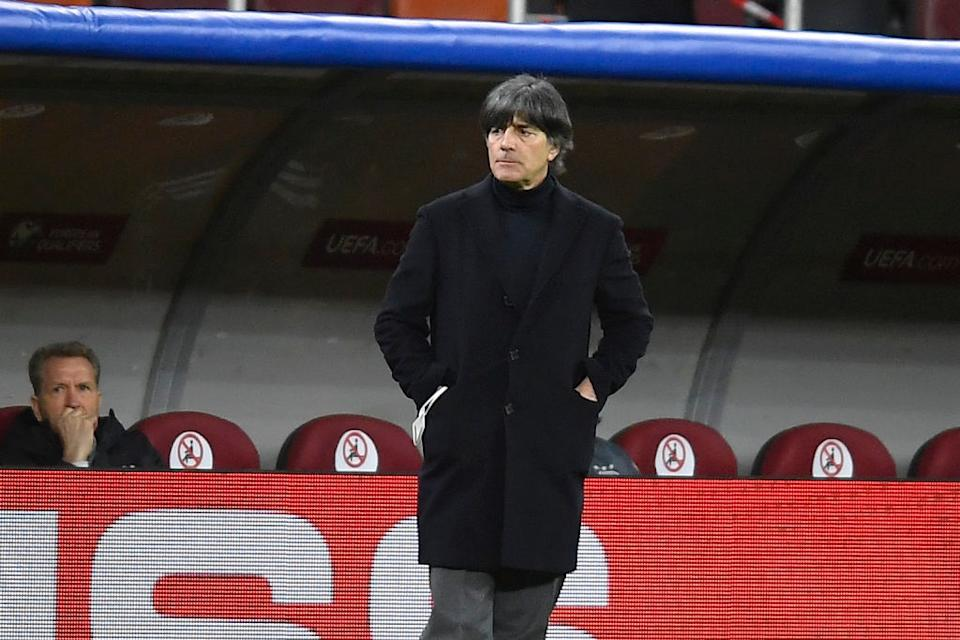 Joachim Löw during the game between Romania an Germany, in the World Cup 2022 Qualifiers, at National Arena Bucharest on March 28, 2021 in Bucharest, Romania. (Photo by Alex Nicodim/NurPhoto via Getty Images)