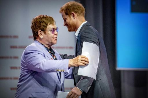 Prince Harry joins Sir Elton John to launch AIDS initiative in Amsterdam