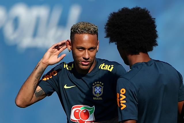 Soccer Football - World Cup - Brazil Training - Brazil Training Camp, Sochi, Russia - June 24, 2018 Brazil's Neymar during training REUTERS/Hannah McKay