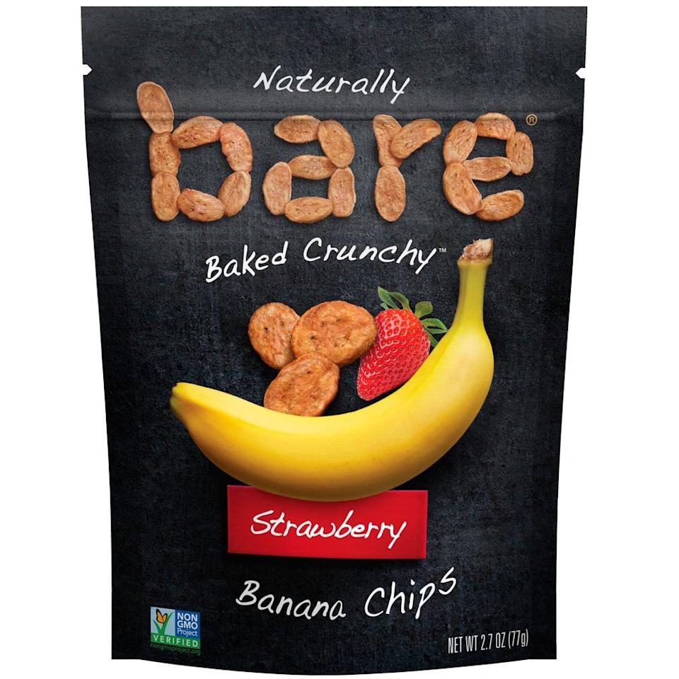 """<p>No matter your dietary restrictions, everyone loves a crunchy snack! <a href=""""https://www.popsugar.com/buy/Bare%20Snacks%20Strawberry%20Banana%20Chips-459887?p_name=Bare%20Snacks%20Strawberry%20Banana%20Chips&retailer=amazon.com&price=20&evar1=moms%3Aus&evar9=46266513&evar98=https%3A%2F%2Fwww.popsugar.com%2Ffamily%2Fphoto-gallery%2F46266513%2Fimage%2F46271446%2FBare-Snacks-Strawberry-Banana-Chips&prop13=api&pdata=1"""" rel=""""nofollow"""" data-shoppable-link=""""1"""" target=""""_blank"""" class=""""ga-track"""" data-ga-category=""""Related"""" data-ga-label=""""https://www.amazon.com/dp/B07C1LFGZK/ref=cm_sw_r_tw_dp_U_x_4K9aDb3V570NR"""" data-ga-action=""""In-Line Links"""">Bare Snacks Strawberry Banana Chips</a> ($20 for 6 bags) are made with just two ingredients – strawberries and bananas – and they'll add a sweet crunch to your kid's lunchbox.</p>"""