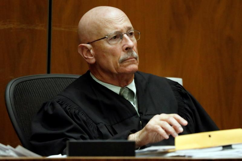 Judge Larry Fidler listens to the guilty verdict on all charges of Michael Thomas Gargiulo at the Clara Shortridge Foltz Criminal Justice Center in Los Angeles, California, USA, 15 August 2019. EFE/AL SEIB