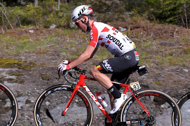 Bjorg Lambrecht, 22, died after a crash Monday. (Photo by Luc Claessen/Getty Images)