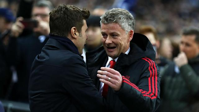 Tottenham went down 1-0 to Manchester United on Sunday, but Mauricio Pochettino's focus was on his team and not Ole Gunnar Solskjaer.