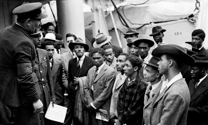 Jamaican immigrants on the Empire Windrush at Tilbury on 22 June 1948