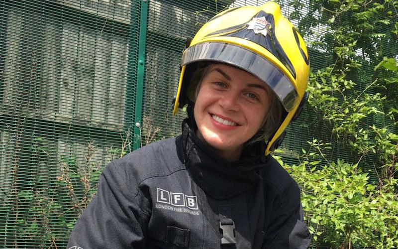 April Cachia, 26, who attended Grenfell Tower just five days into the job -  Nick Edwards/ The Telegraph