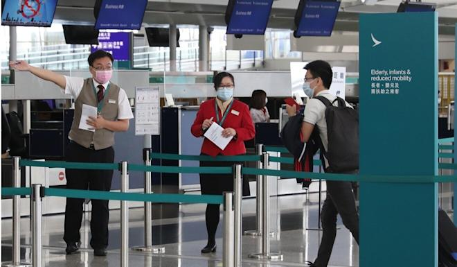 Few people are flying because of the public health crisis. Photo: Nora Tam