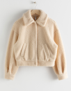 "We like it because it's cozy. We love it because it's more socially acceptable than carrying our emotional support teddybear around in public. $119, & Other Stories. <a href=""https://www.stories.com/en_usd/clothing/jackets-coats/jackets/product.faux-shearling-teddy-jacket-beige.0784617003.html"" rel=""nofollow noopener"" target=""_blank"" data-ylk=""slk:Get it now!"" class=""link rapid-noclick-resp"">Get it now!</a>"