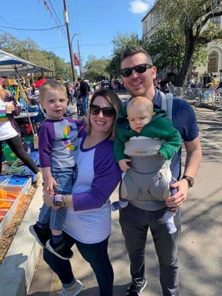 PHOTO: Sean Cosgrove of New Orleans, Louisiana, earned his degree from the Lindner College of Business at the University of Cincinnati. Here he appears in a photo with his wife Kassie Cosgrove and children Nolan, 3 and Callan, 1. (Cosgrove family)