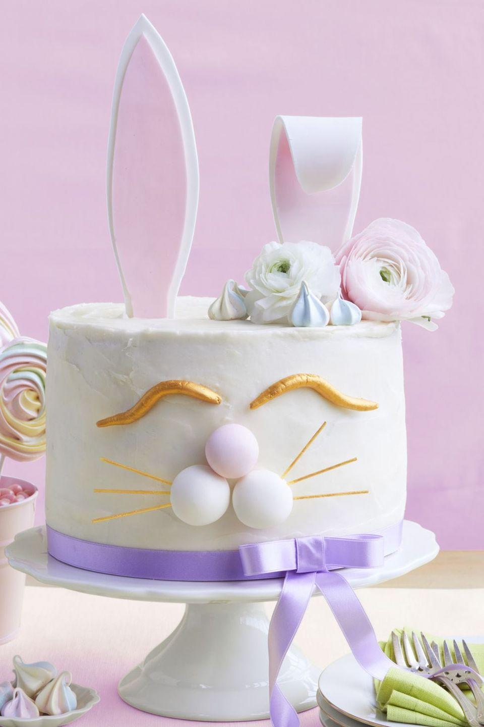 """<p>The ultimate tribute to the Easter Bunny, this cake is full of character and charm, and it tastes pretty great, too. </p><p><strong><em><a href=""""https://www.womansday.com/food-recipes/food-drinks/a19122506/carrot-bunny-cake-recipe/"""" rel=""""nofollow noopener"""" target=""""_blank"""" data-ylk=""""slk:Get the Carrot Bunny Cake recipe."""" class=""""link rapid-noclick-resp"""">Get the Carrot Bunny Cake recipe. </a></em></strong></p>"""