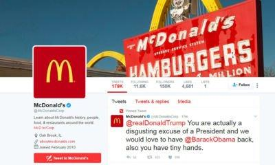 McDonald's deletes tweet calling Trump 'a disgusting excuse of a president'