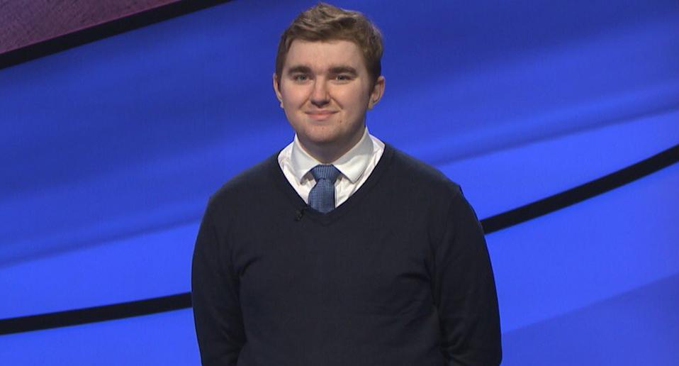 A photo of Brayden Smith during an appearance on Jeopardy!.
