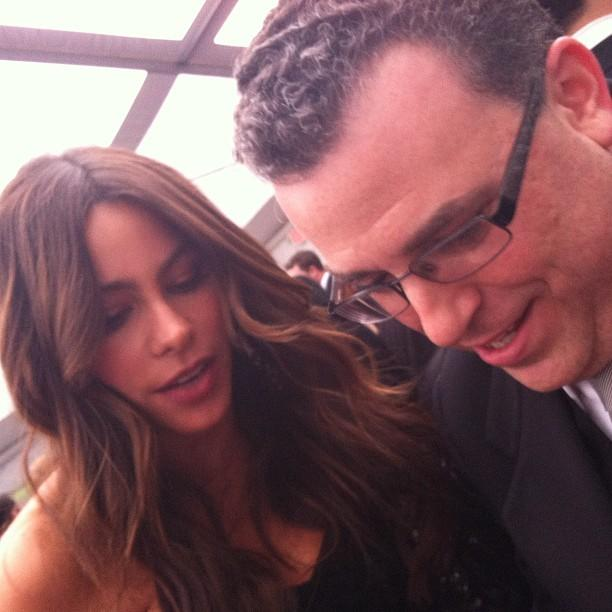 David and Sofia Vergara consult. #whcd