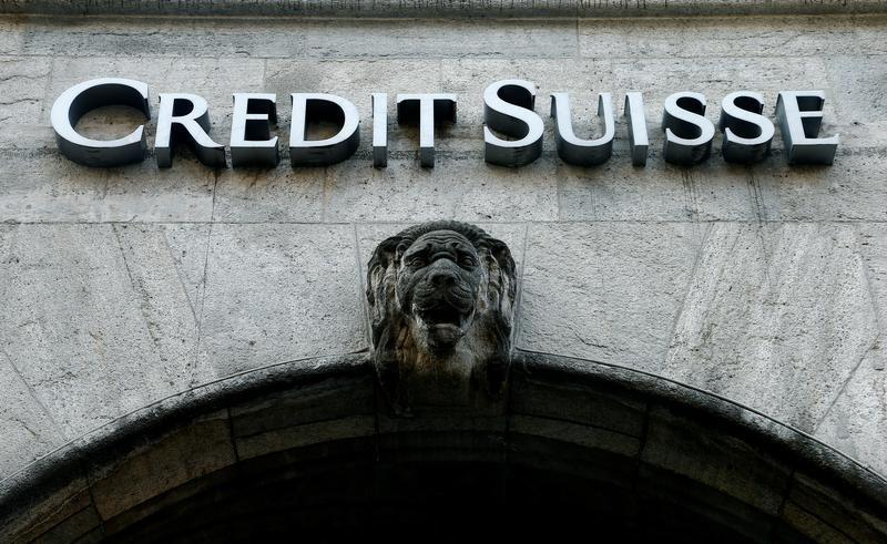 The logo of Swiss bank Credit Suisse is seen in Zurich