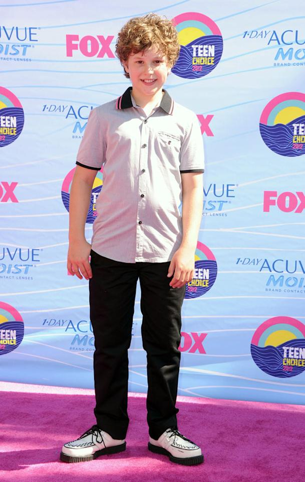 Actor Nolan Gould arrives at the 2012 Teen Choice Awards at Gibson Amphitheatre on July 22, 2012 in Universal City, California.